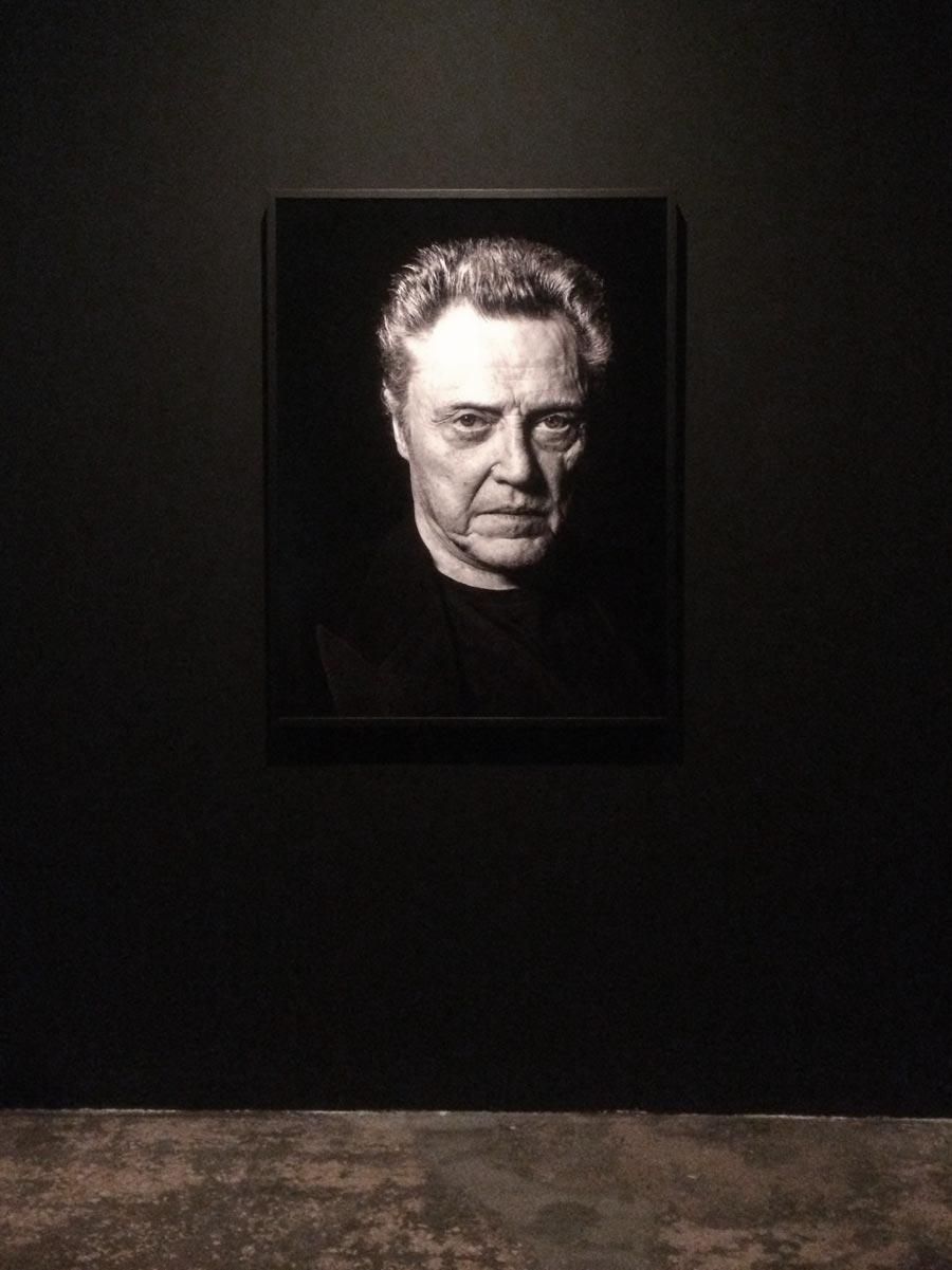 Retrato Pep Escoda Christopher Walken