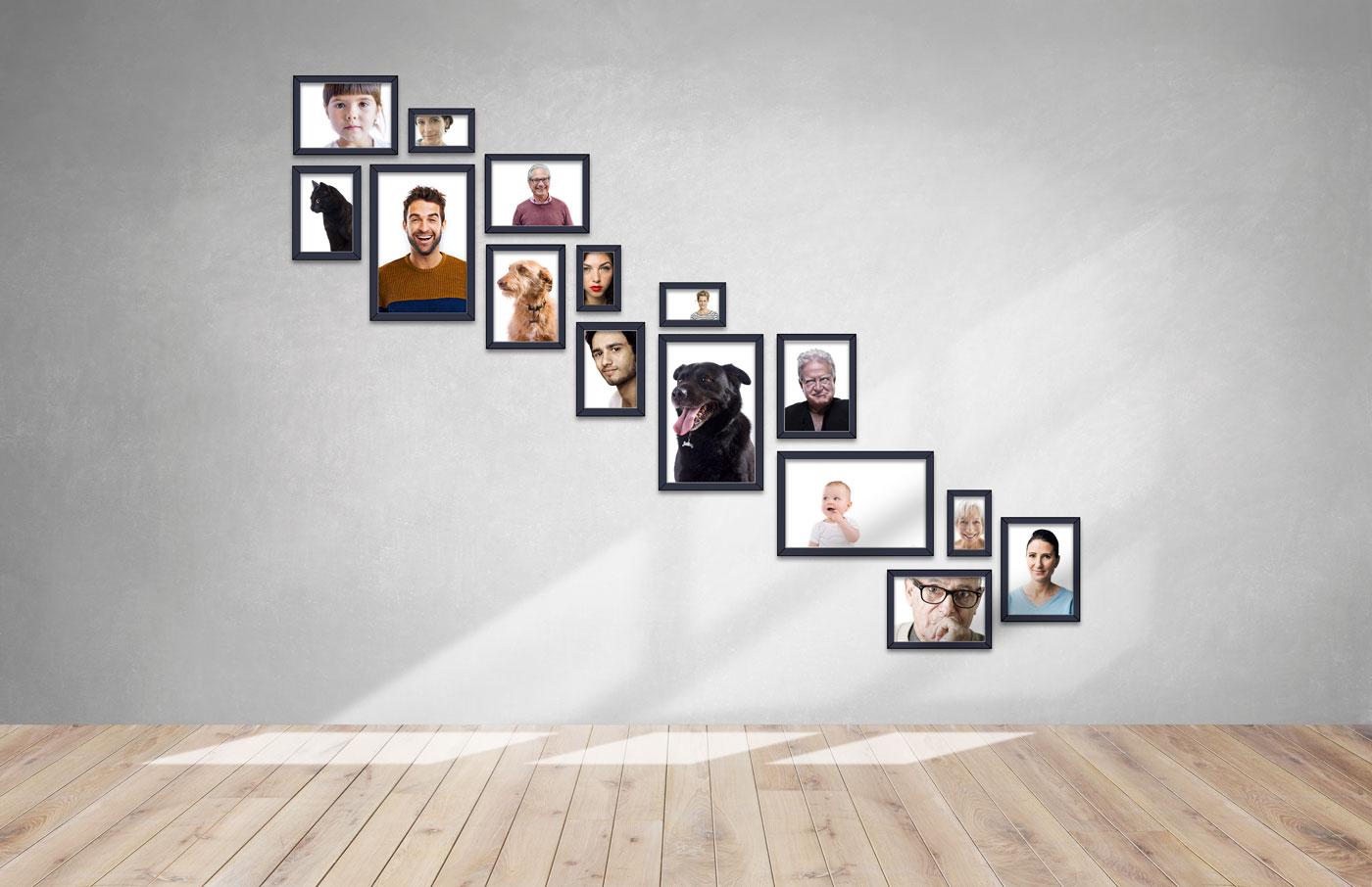 Diseño de Photo wall para la gran familia