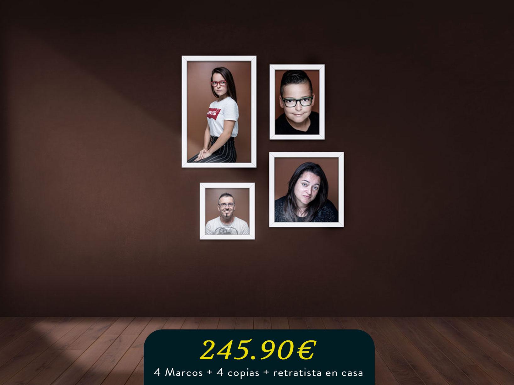 photo wall para pequeña familia mas retratista en casa
