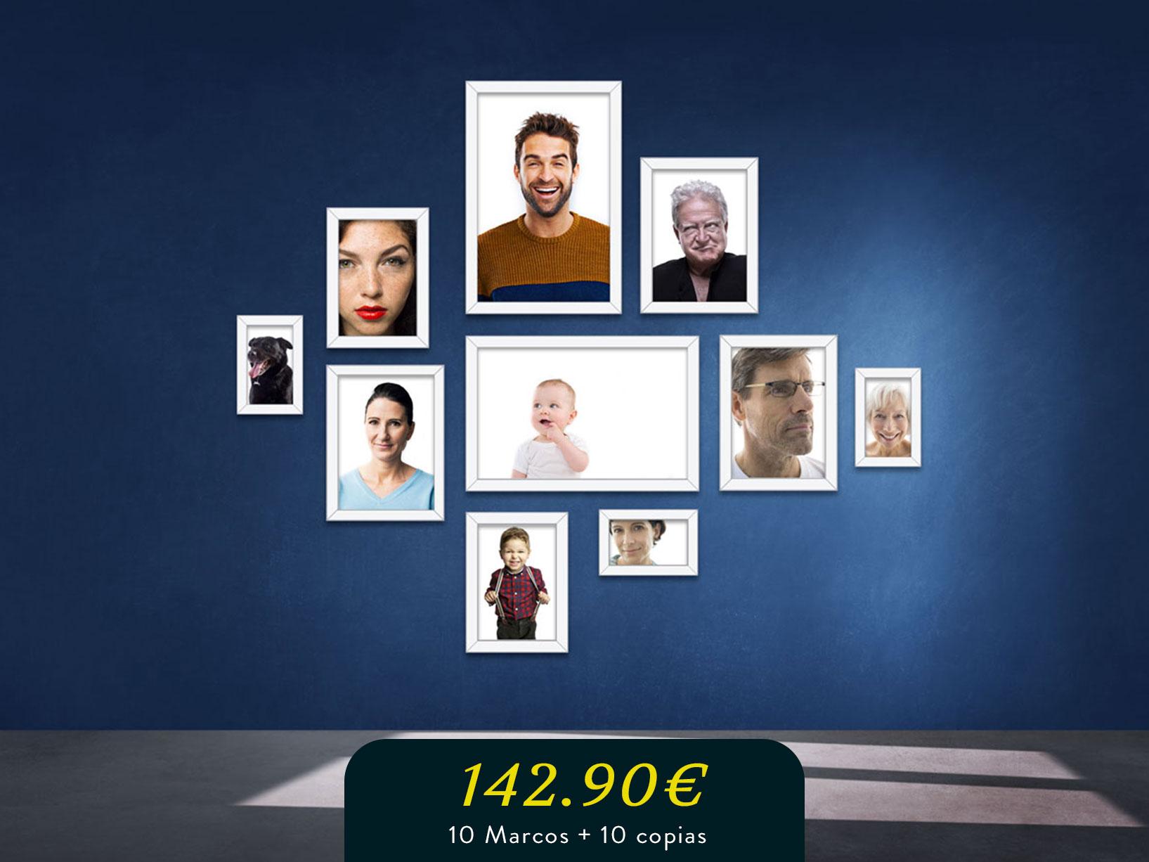 Photo wall pared marcos familia mediana