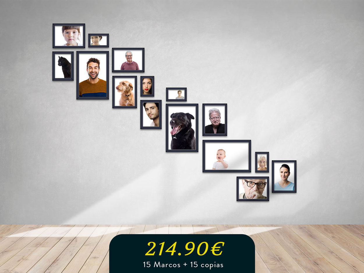 marcos   Photo wall   pared para la gran familia