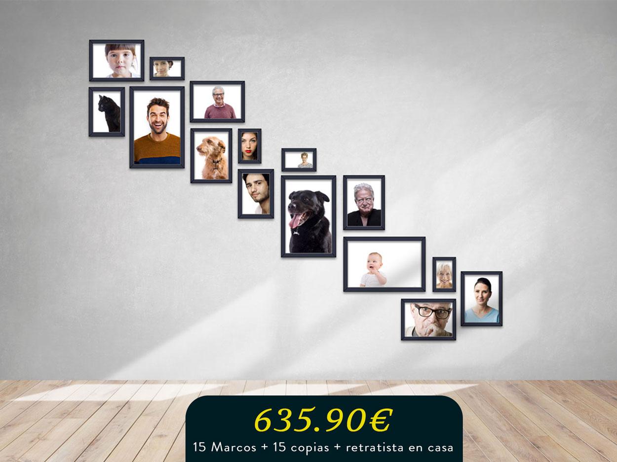 photo wall más retratista para la gran familia